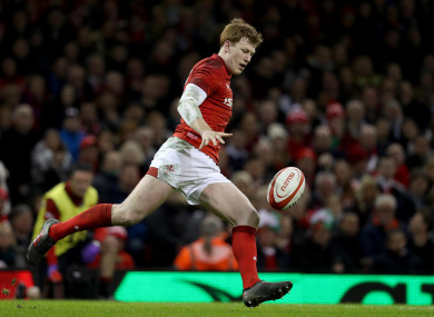 Rhys Patchell has appeared on Eddie Jones' radar.