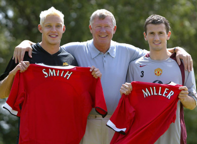 Miller was unveiled as a Man United player alongside Alan Smith back in July 2004.