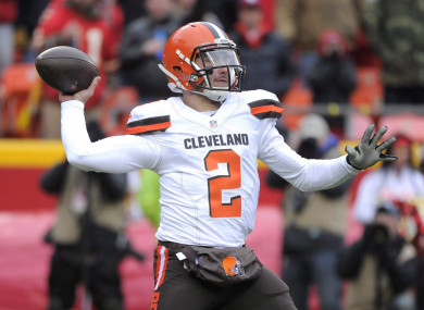 Johnny Manziel is hoping to return to playing soon.