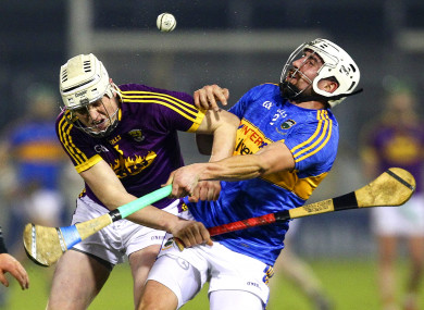Tipperary's Patrick Maher in action against Wexford's Liam Ryan.