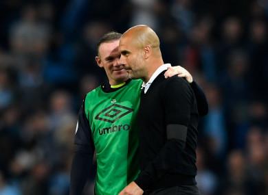 Wayne Rooney and Pep Guardiola