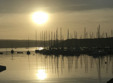 The sun rises over Kinsale harbour.