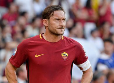 Francesco Totti (file pic).