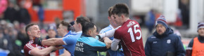 Late point grabs draw for Galway against 14-man Dublin in feisty clash at Pearse Stadium