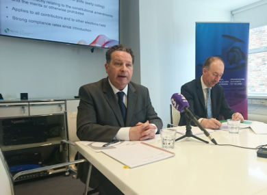 The BAI's compliance and policy manager Declan McLoughlin and CEO Michael O'Keefe.