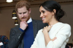 Prince Harry and Meghan Markle were pretty grossed out by a prosthetic foot in Belfast yesterday