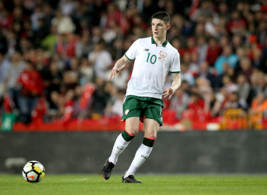 Declan Rice made his debut for Ireland against Turkey last night.