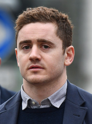 Paddy Jackson arriving at court today