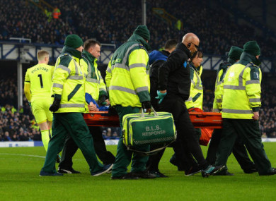McCarthy suffered the injury against West Brom.
