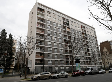 The apartment block in the 11th arrondisement of Paris where the elderly woman lived.