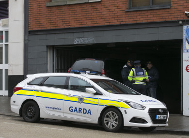 Gardaí at the scene of the arrests