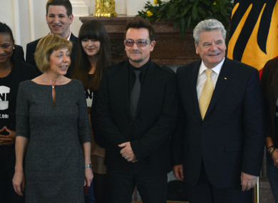 Bono and ambassadors of the charity pictured in Berlin in 2012.