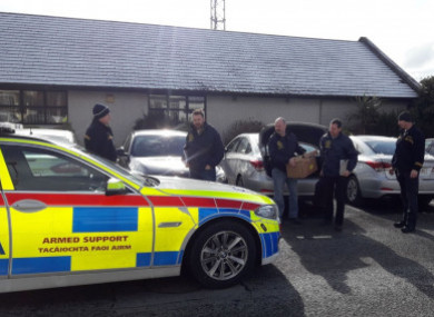 Members of the Garda National Economic Crime Bureau carrying out searches in relation to invoice fraud earlier this month. The exact location has been withheld.