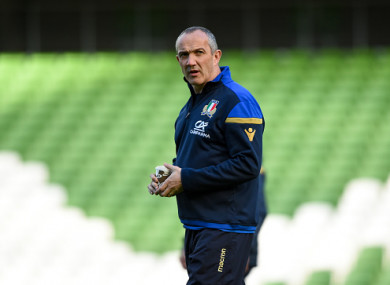 Italy head coach Conor O'Shea.