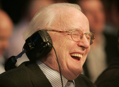 RTE broadcaster Jimmy Magee passed away in September.