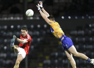 Cork's John O'Rourke and Clare's Jamie Malone.