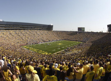 The appropriately-named Big House: home to the University of Michigan Wolverines.