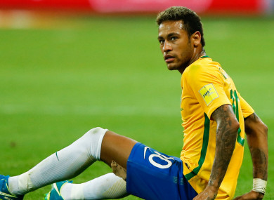 Neymar is due to lead Brazil's attack in Russia.