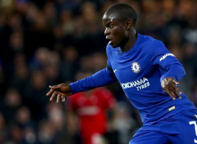 Chelsea midfielder N'Golo Kante.
