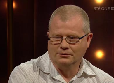 Richard Satchwell on RTÉ television last night.