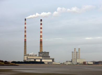 File photo of the ESB power station at Poolbeg in Dublin, in 2009.