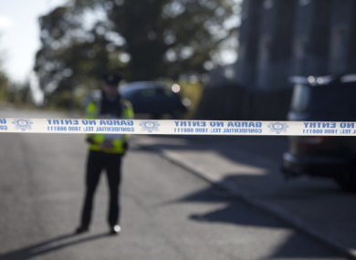 The scene in Omeath the morning following the killing of Garda Tony Golden.