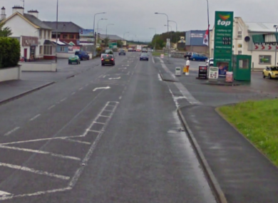 The Derry to Bridgend road where the collision took place.