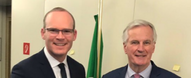 Tánaiste Simon Coveney met with Michel Barnier earlier today.