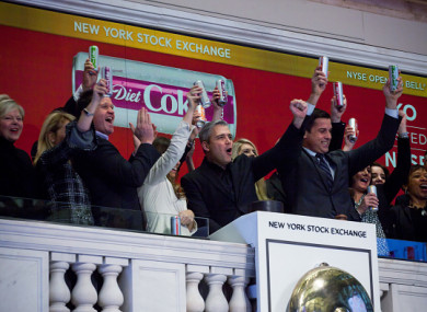 File photo. The group director for Coca-Cola at the NYSE.