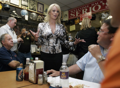 Daniels claims she had a sexual encounter with Trump in July 2006.