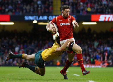 Cuthbert will play no part for Wales in next year's World Cup after the decision to leave his homeland.
