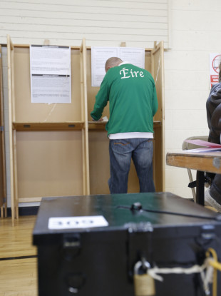 File photo of a polling station in Dublin during the 2016 general election