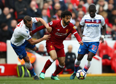 Mohamed Salah failed to score against Stoke on a frustrating afternoon for Liverpool.