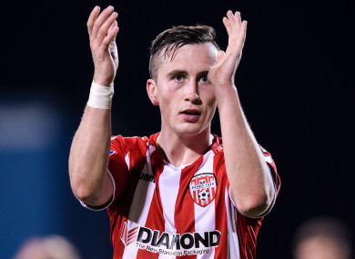 Aaron McEneff has established himself as a key player with Derry after an early stint in England with Spurs.
