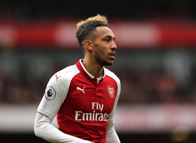 Arsenal forward Pierre-Emerick Aubameyang.