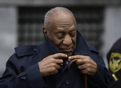 Cosby attending the trial earlier this week.