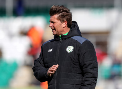 Ireland WNT manager Colin Bell.