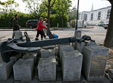 The anchor of the RMS Leinster in Dún Laoghaire, Dublin