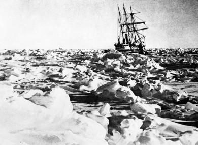 Ernest Shackleton's ship Endurance became trapped in ice.