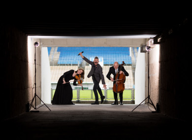 Diane Daly, Irish Chamber Orchestra, Musician Jerry Fish and Richard Angell, Irish Chamber Orchestra launching the festival.