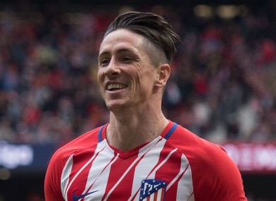 Atletico Madrid's Fernando Torres
