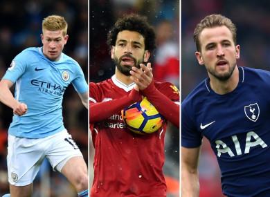 League leaders Manchester City dominate the six-man shortlist.