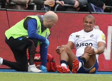 Bath centre Jonathan Joseph sustained an injury against Saracens