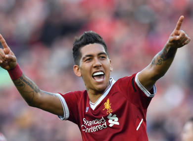 Roberto Firmino makes the cut for our team.