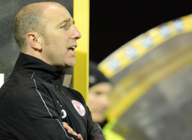 Shels manager Owen Heary.