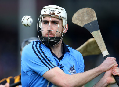 Kelly in action for Dublin during the 2015 Allianz Hurling League.