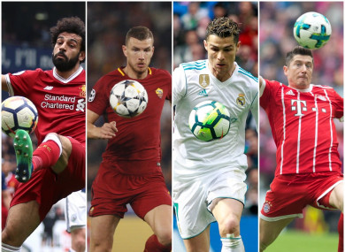 Salah, Dzeko, Ronaldo and Lewandowski will all be chasing a place in the final on 26 May.