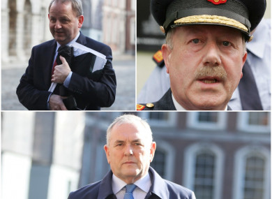 Clockwise from top left: Maurice McCabe, Martin Callinan and John McGuinness TD