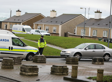 Gardaí at the crime scene