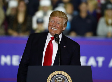 The US president instead attended a rally in Michigan yesterday.